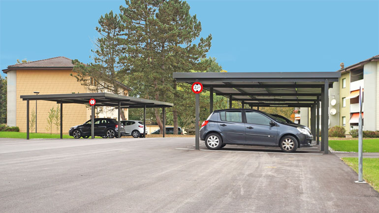 carports carport autounterst nde braun raumsysteme. Black Bedroom Furniture Sets. Home Design Ideas